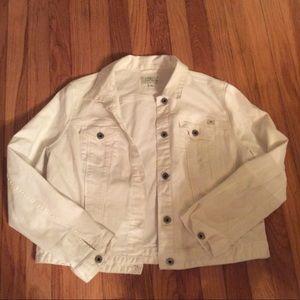 Women's LUCKY brand White denim Jacket